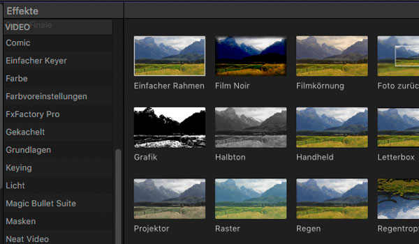 Effekte in Final Cut Pro X